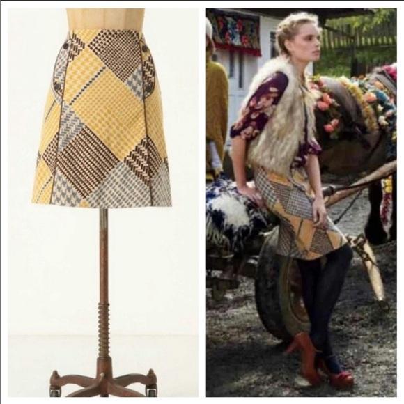 Anthropologie Dresses & Skirts - NWOT Anthropologie Maeve Houndstooth Button Skirt
